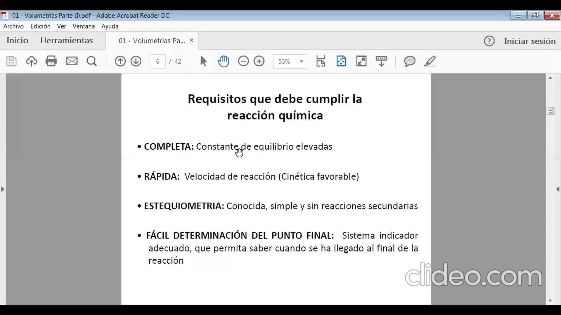 Ingeniería Agronómica- Química Analítica- Teoría volumetrías parte I- Video N°11