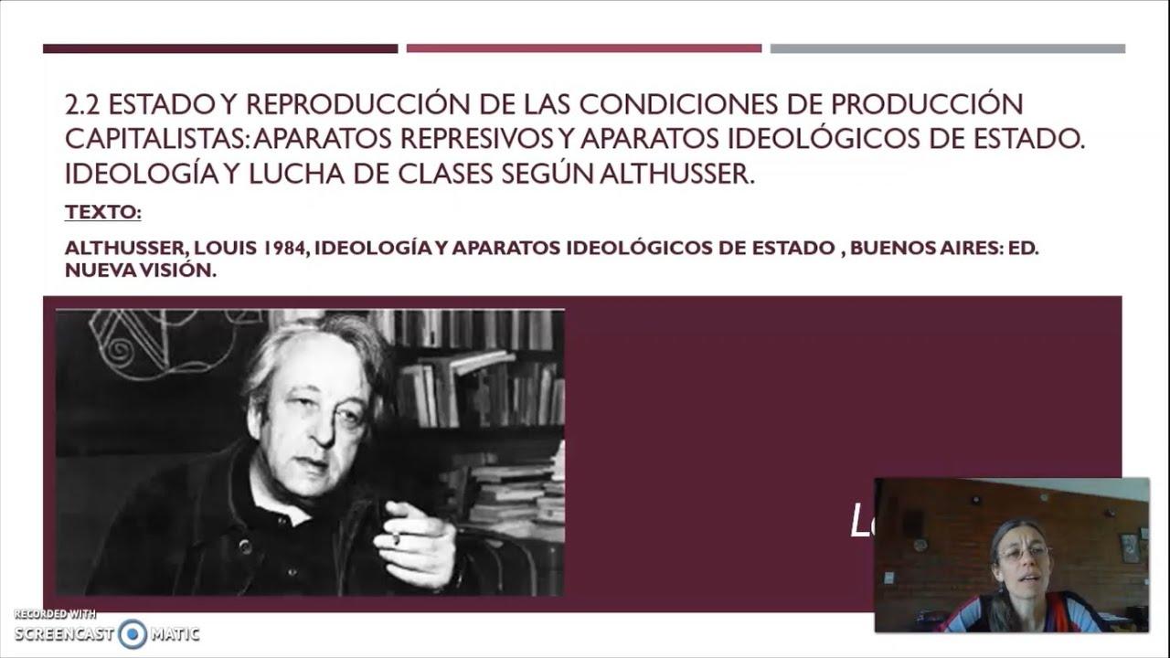 FADECS/Lic. Sociología/ Sociología Política I/Prof. Giaretto/Teórico N° 6 (Althusser/Therborn)