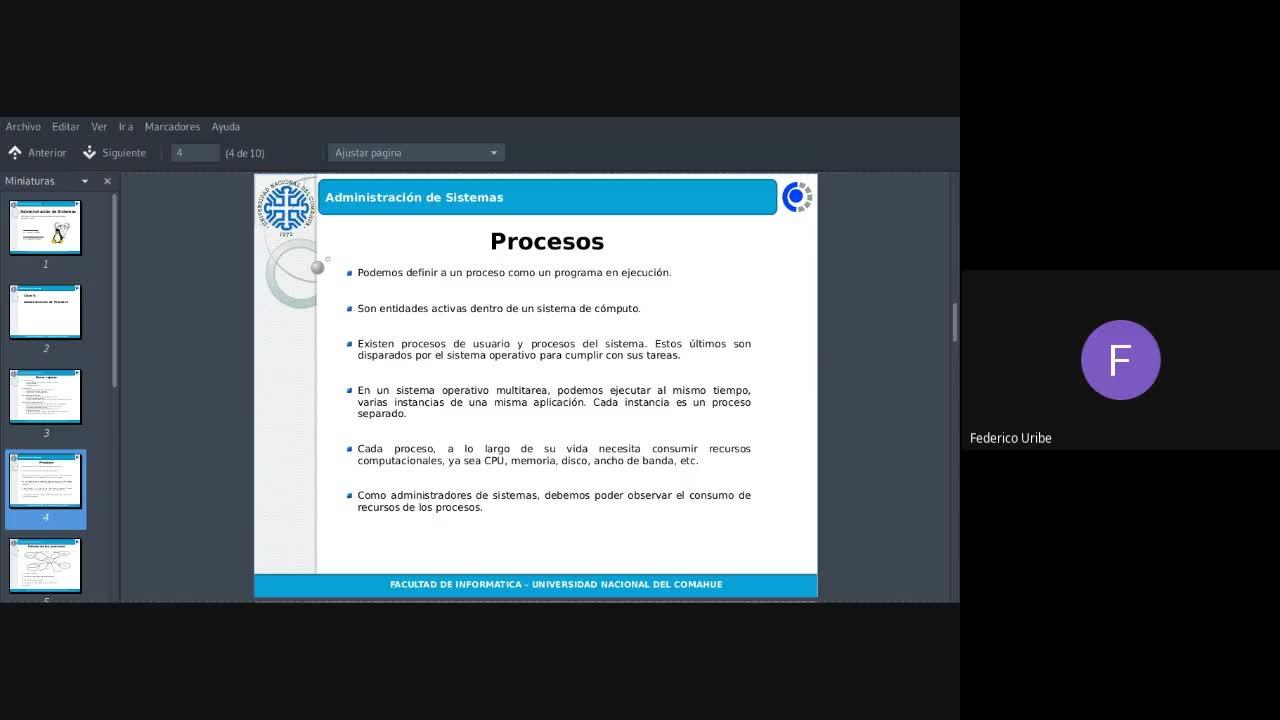 5 - Clase 30/09/2020 - Administración de Procesos