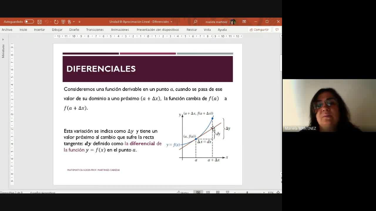 Clase Teórica- (06-10-20) Diferenciales y Aplicaciones a la Economía