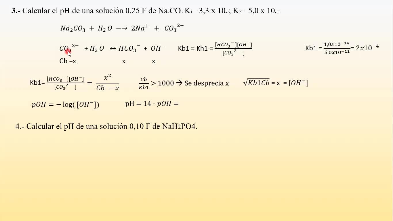 Ingeniería Agronómica- Química Analítica- Resolución Guía 6 - Video N°18