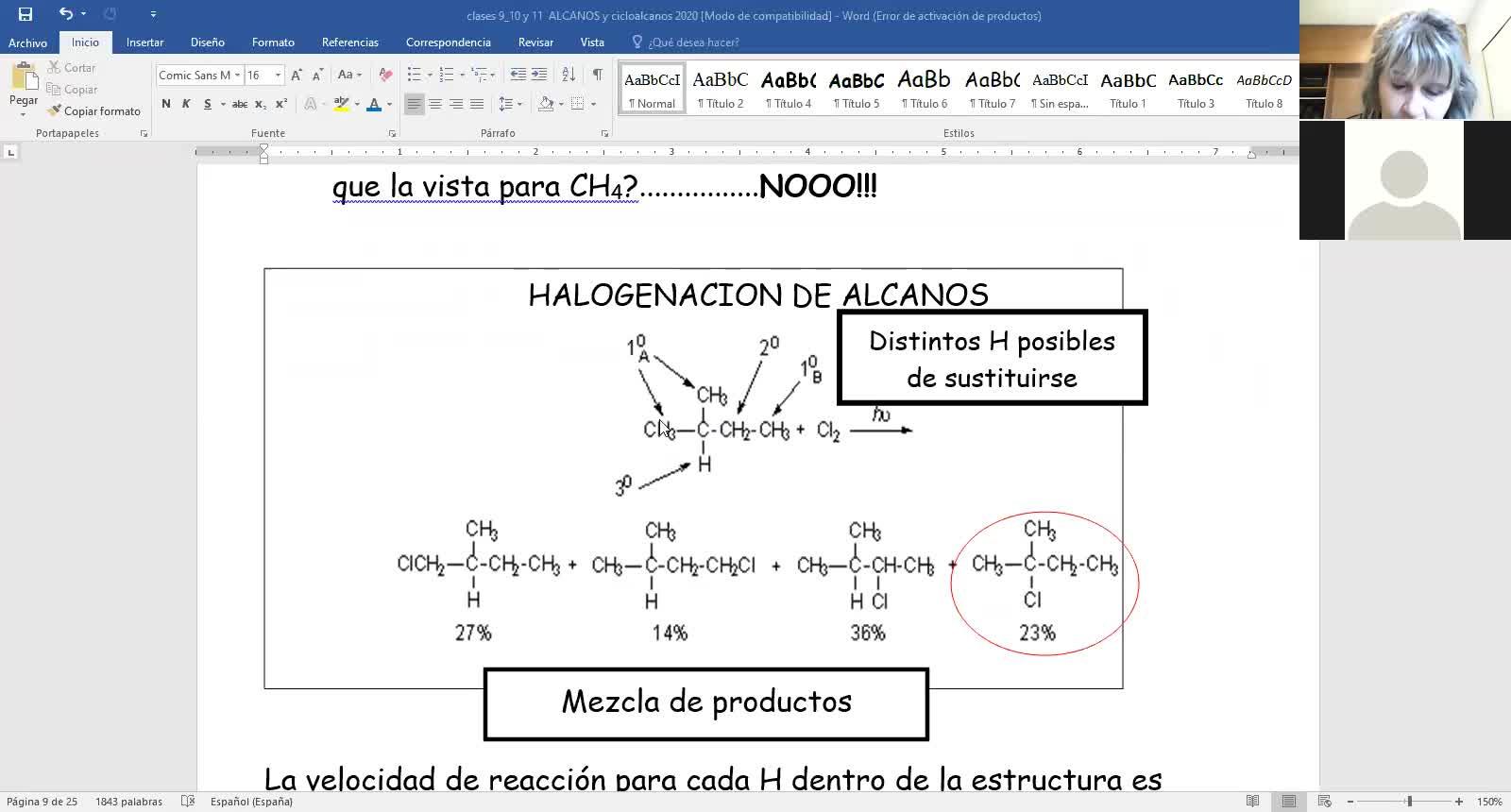 Halogenación de alcanos y cicloalcanos