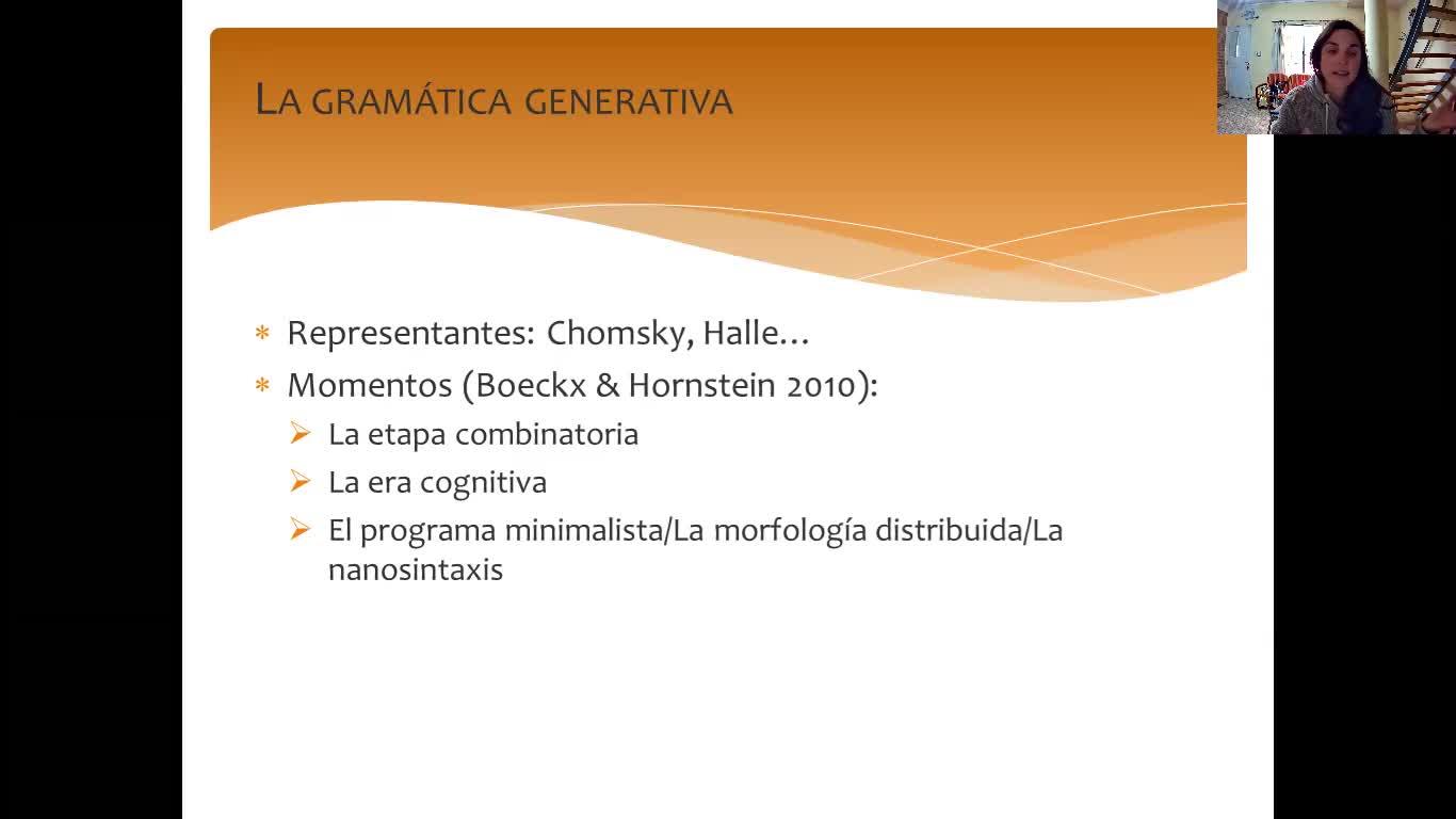 Gramática generativa Discusiones generales