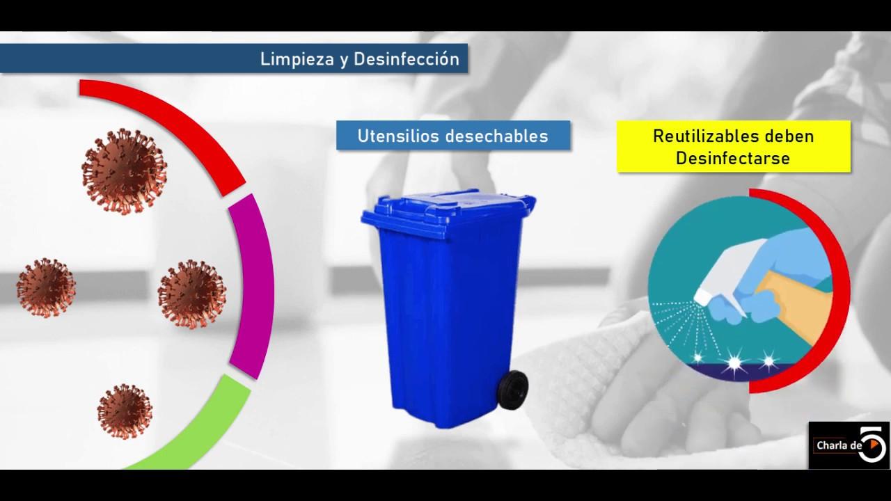Protocolo Limpieza y Desinfeccin - Covid19 MINSAL (1/2 )