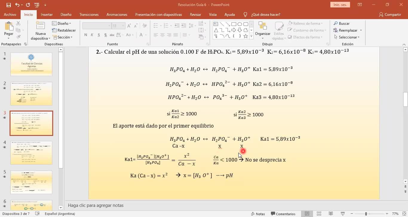 Ingeniería Agronómica- Química Analítica- Resolución Guía 6 completa- Video N°19