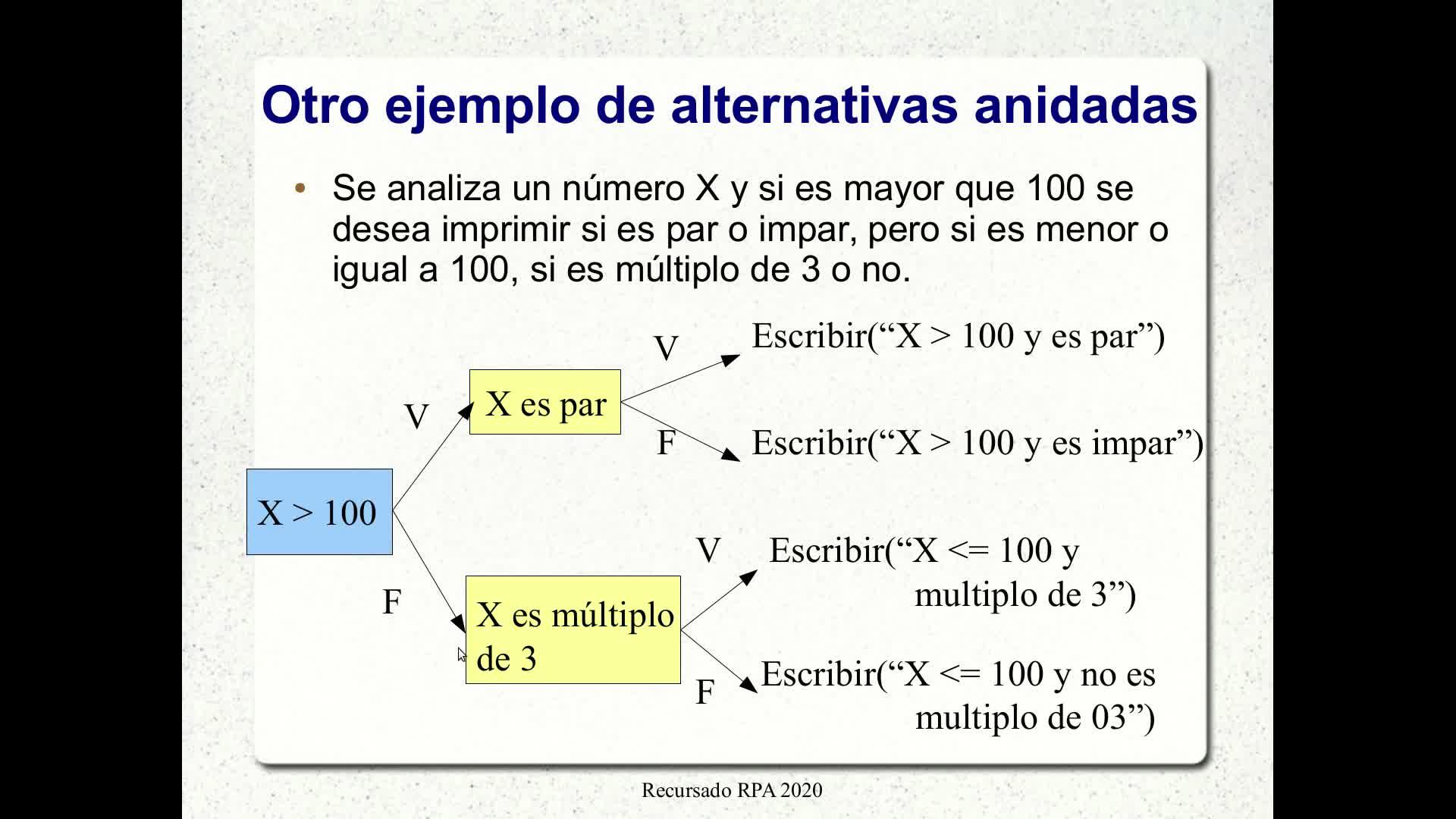 RPA - Video 3.2: Alternativas múltiples