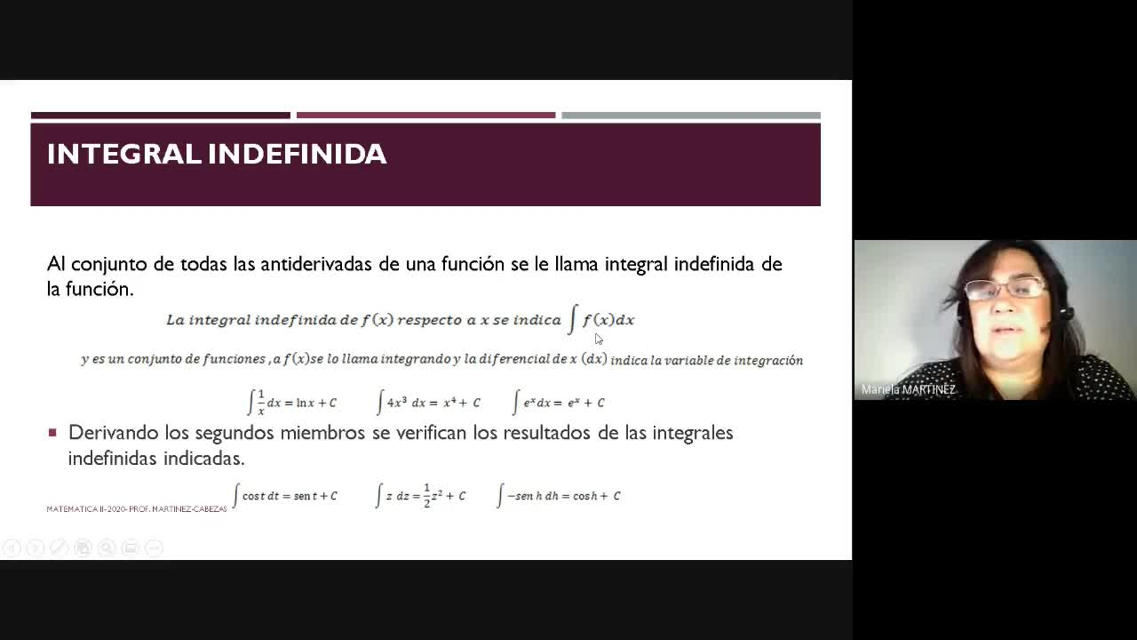 Video Clase Integral Indefinida