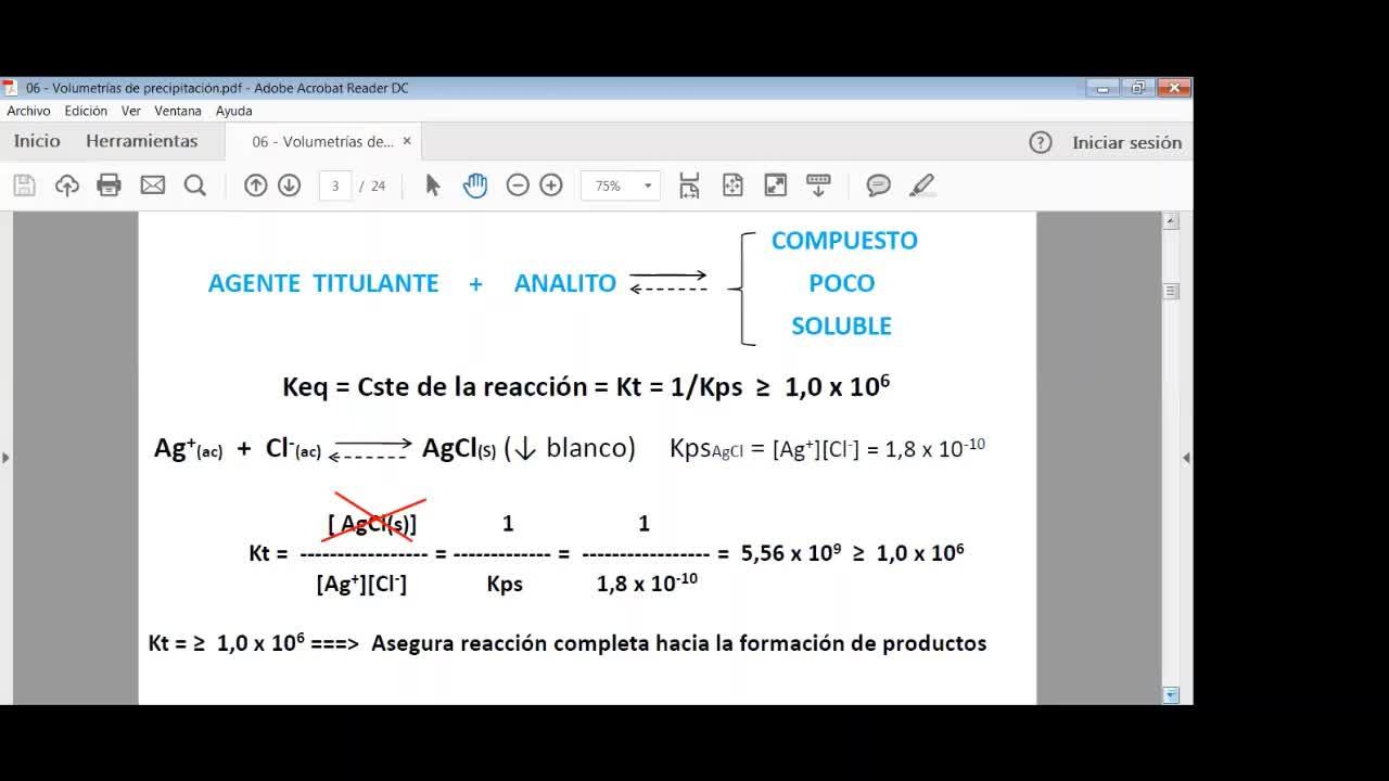 Ingeniería Agronómica--Química Analítica--Volumetría-de-Precipitación--video-n°22