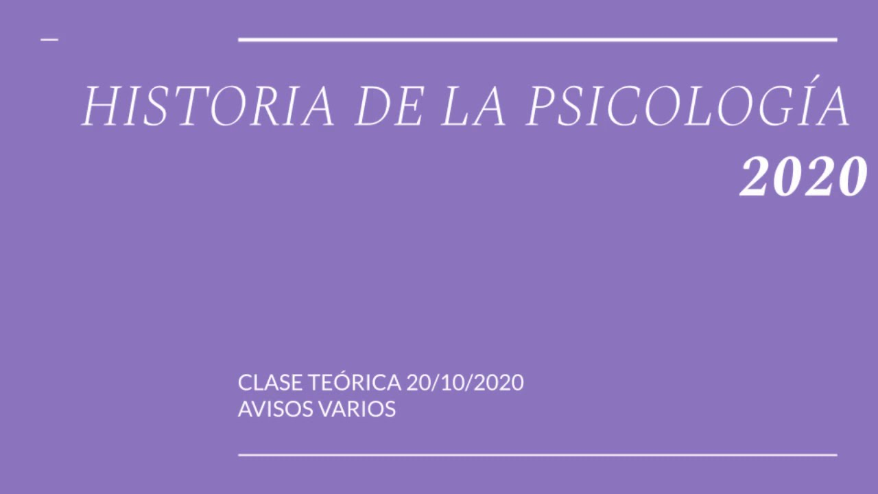 HISTOPSIC2020 CLASE 20 10 2020 A