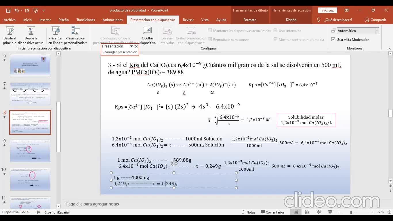 Ingeniería Agronómica- Química Analítica- Resolución Guía 7 - Video N°23