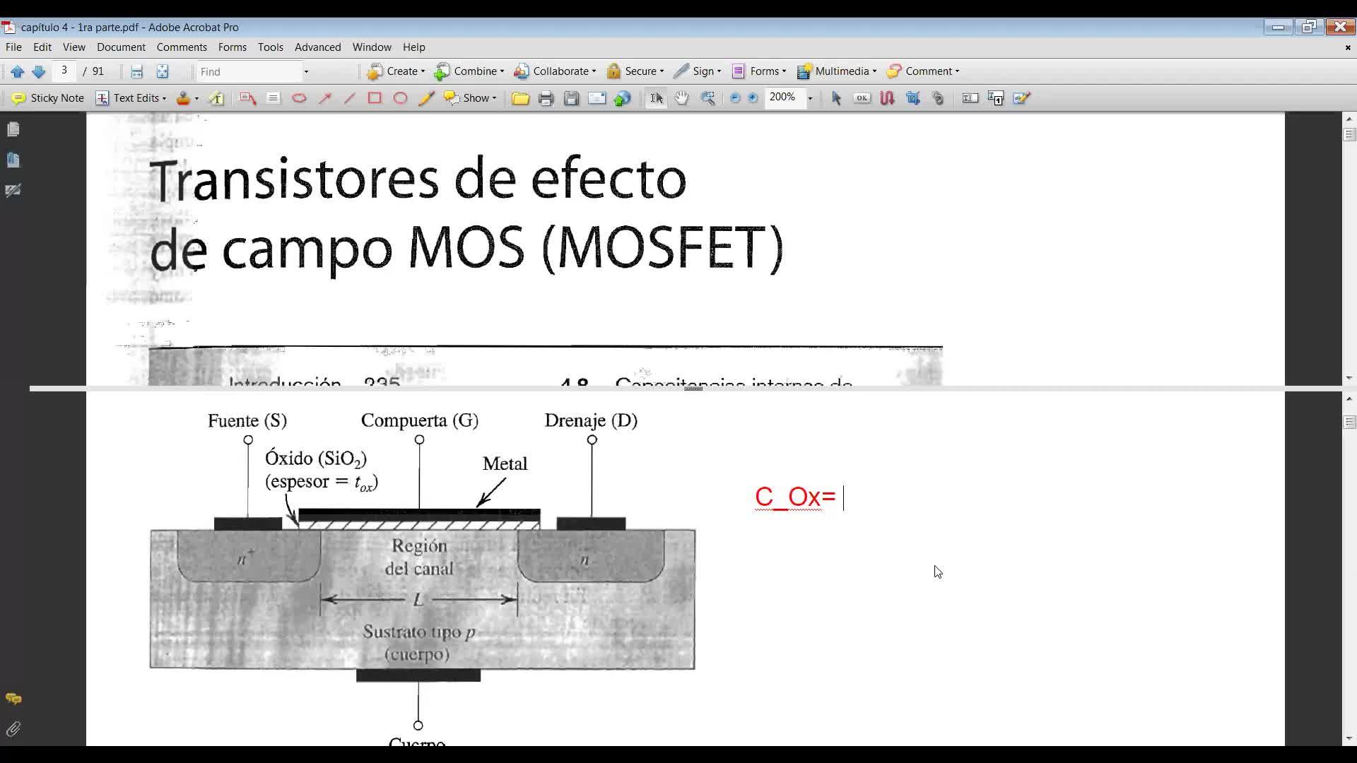 teoría MOSFET 1