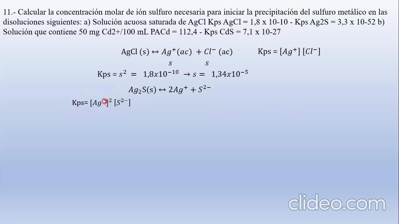 Ingeniería Agronómica- Química Analítica- Resolución Guía 7 parte II- Video N°24