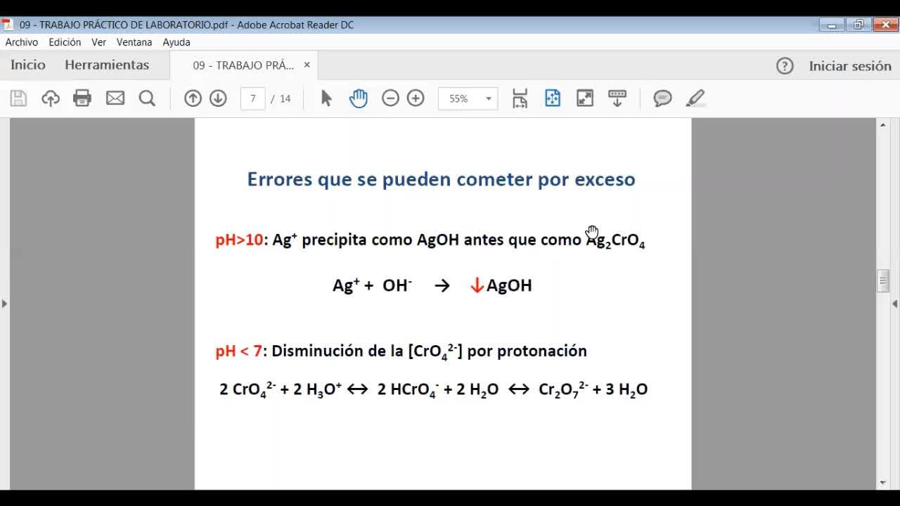 Ingeniería Agronómica-Química Analítica-Trabajo Practico N°2-Volumetría de Precipitación-video n°25