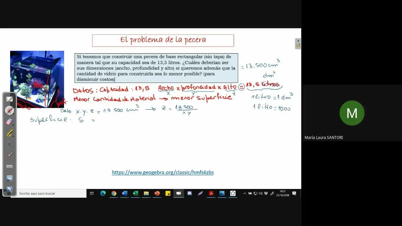 Prof. y Lic. en Matemática. Cálculo 3-A.M.3.Extremos (21/10/20)