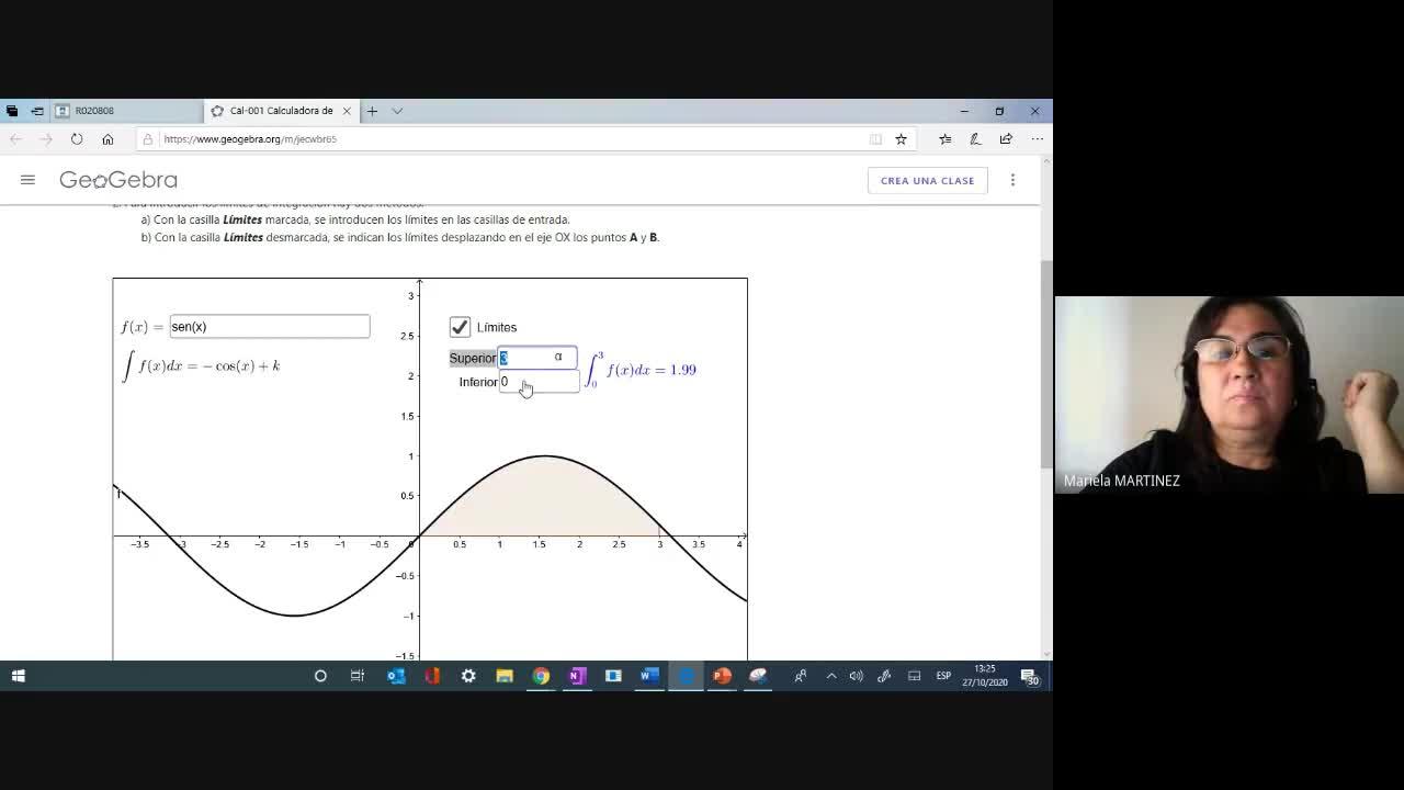 Clase Teórica (27-10-20) Integral Definida- 1era Parte