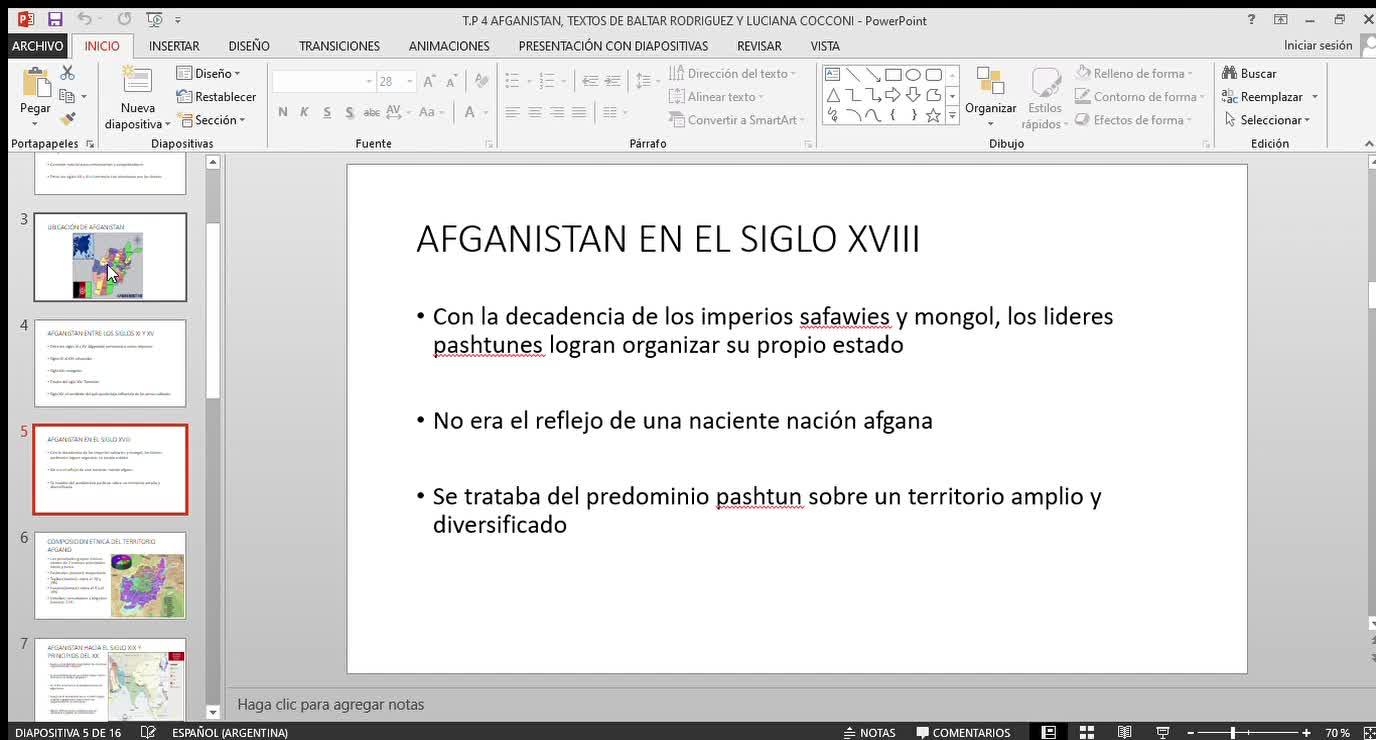 VIDEO, CLASE SOBRE AFGANISTAN