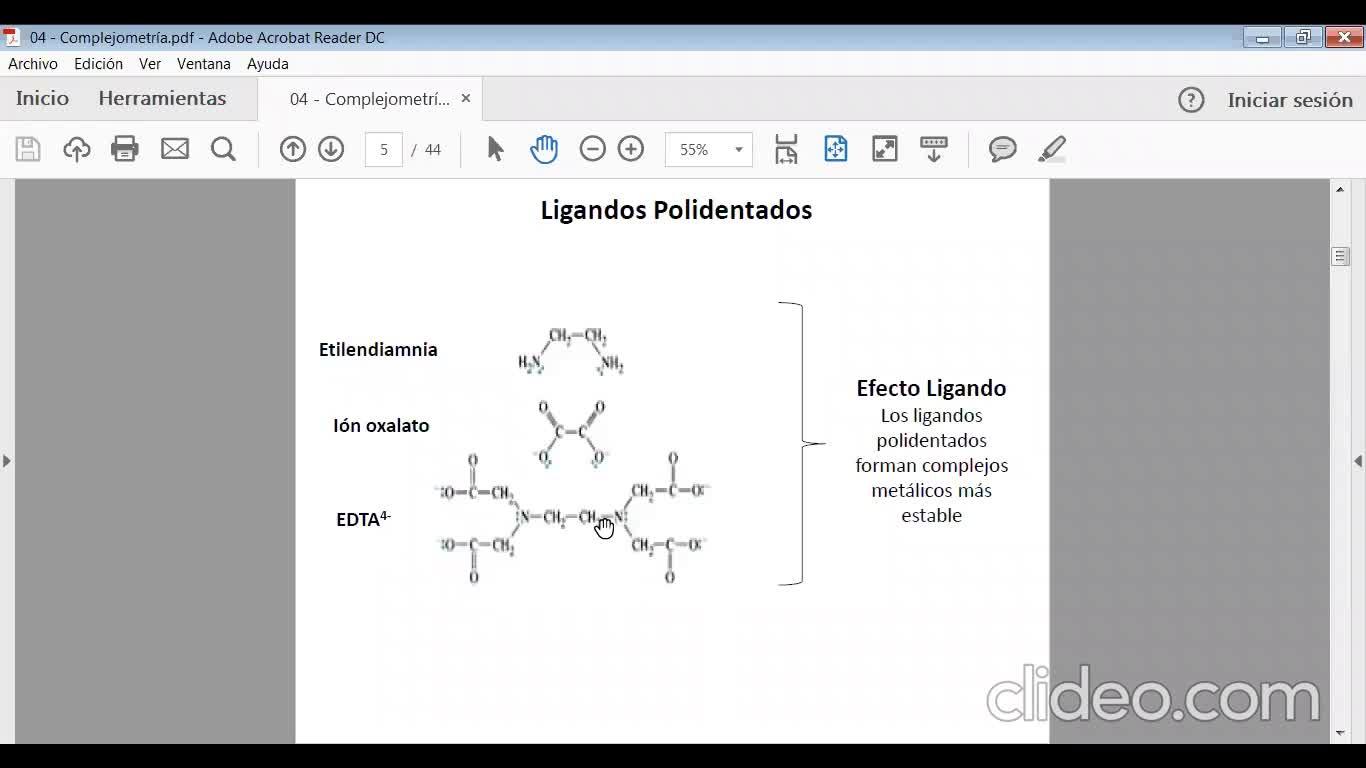 Ingeniería Agronómica- Química Analítica- Clase volumetrías de complejación - Video N°26