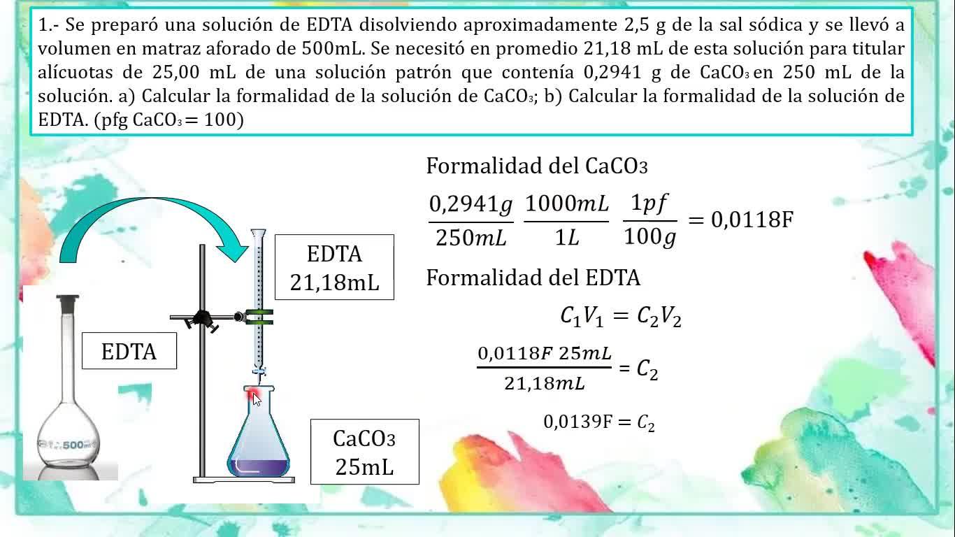 Ingeniería Agronómica- Química Analítica - Resolución Guía 8 - Video N°27