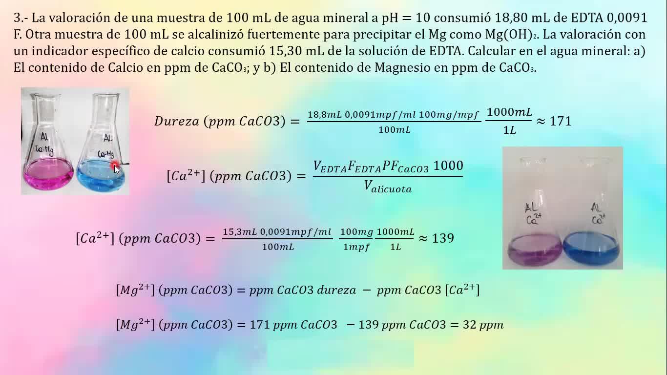 Ingeniería Agronómica- Química analitica- Resolución Guía 8 parte II- Video N°29