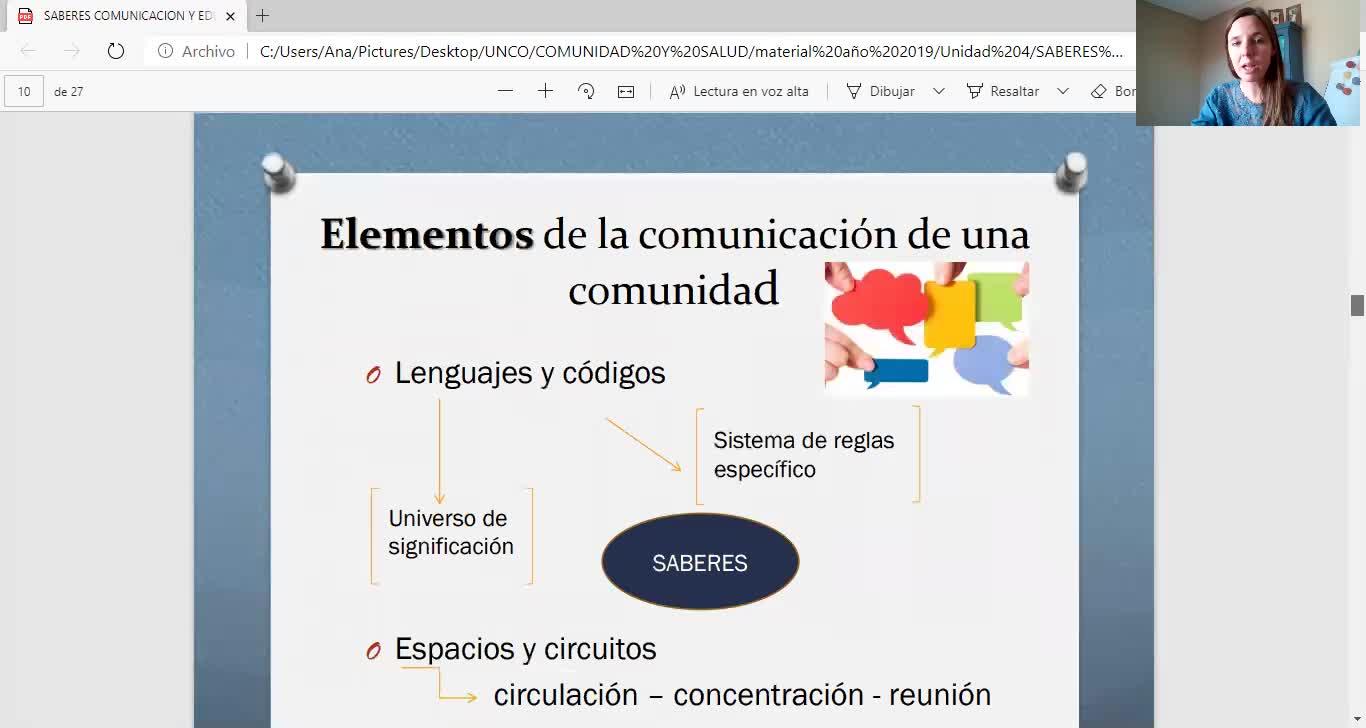 COMUNIDAD Y SALUD/SABERES Y COMUNICACIÓN/SALOMONE