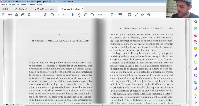Filosofía y ética - Utilitarismo - FACIAS