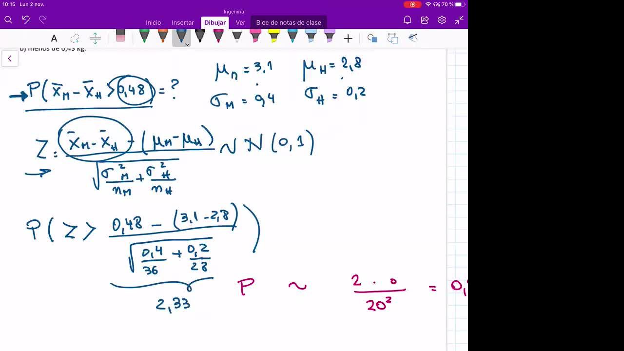INGENIERÍA, Probabilidad y Estadística, TP 4 , Intervalos de confianza (continuación), Práctica, Prof. Haique