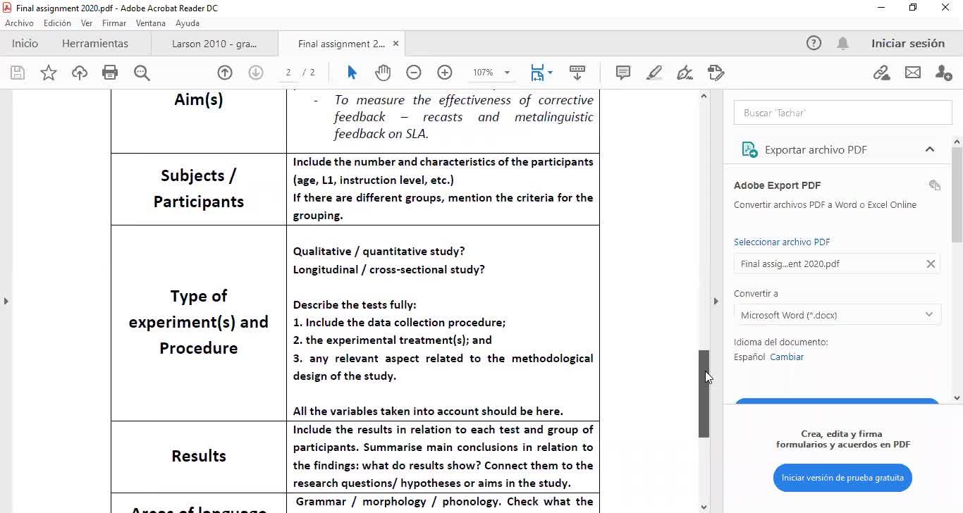 language acquisition_ final assignment