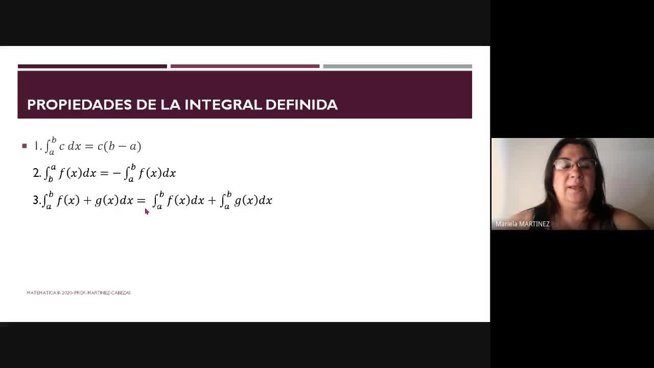 Clase Teórica (03-11-2020) - Integral Definida 2da. Parte