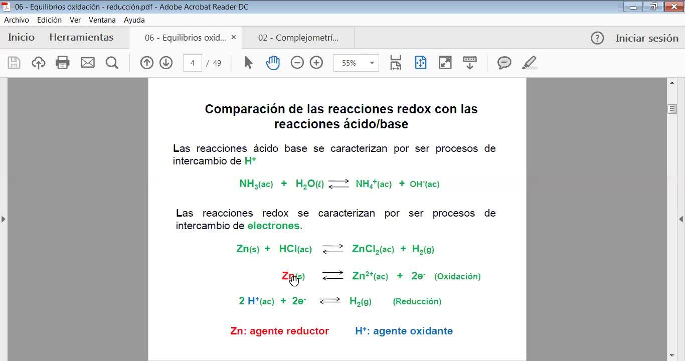 Ingeniería Agronómica- Química Analítica- Clase teórica Oxidación- reducción- Video N°30