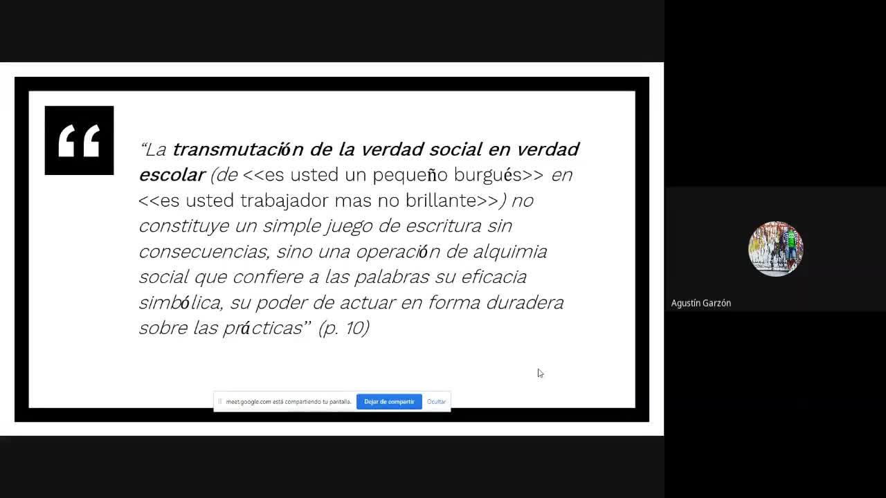 Presencial: Sontome/Anyon/Bourdieu