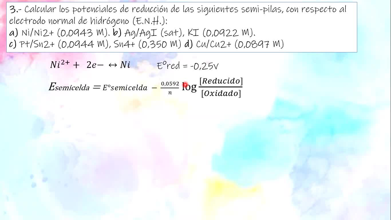 Ingeniería Agronómica- Química Analítica- Resolución Guía 9- parte I- Video N°32