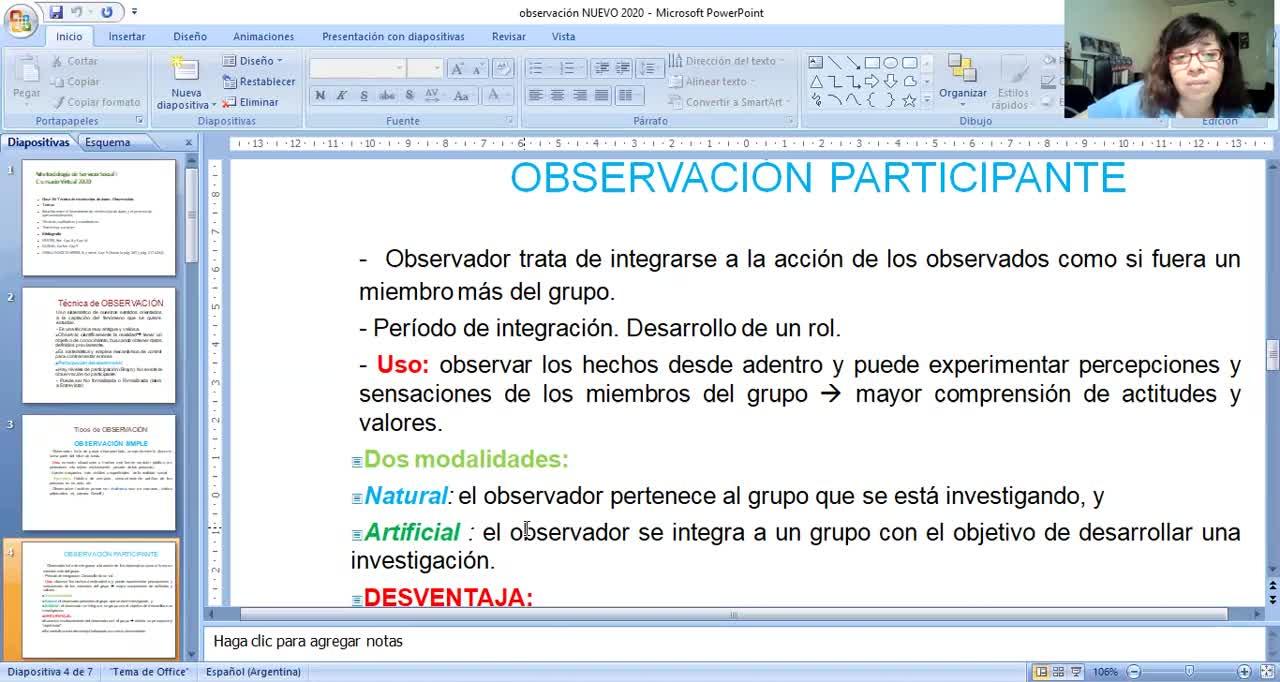 Clase 20: Tecnicas de Recoleccin de Datos: Observacin