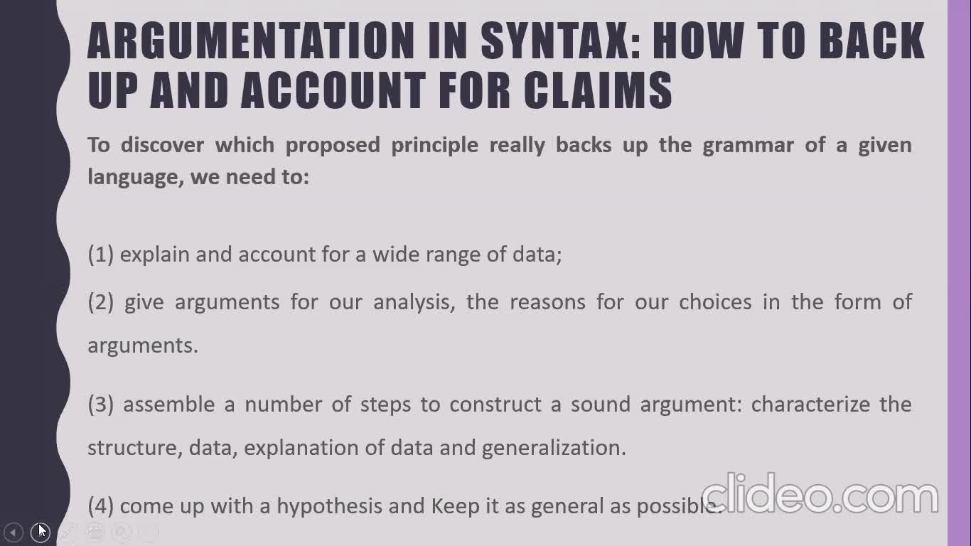 EGIV Syntactic Argumentation - Nov. 10th