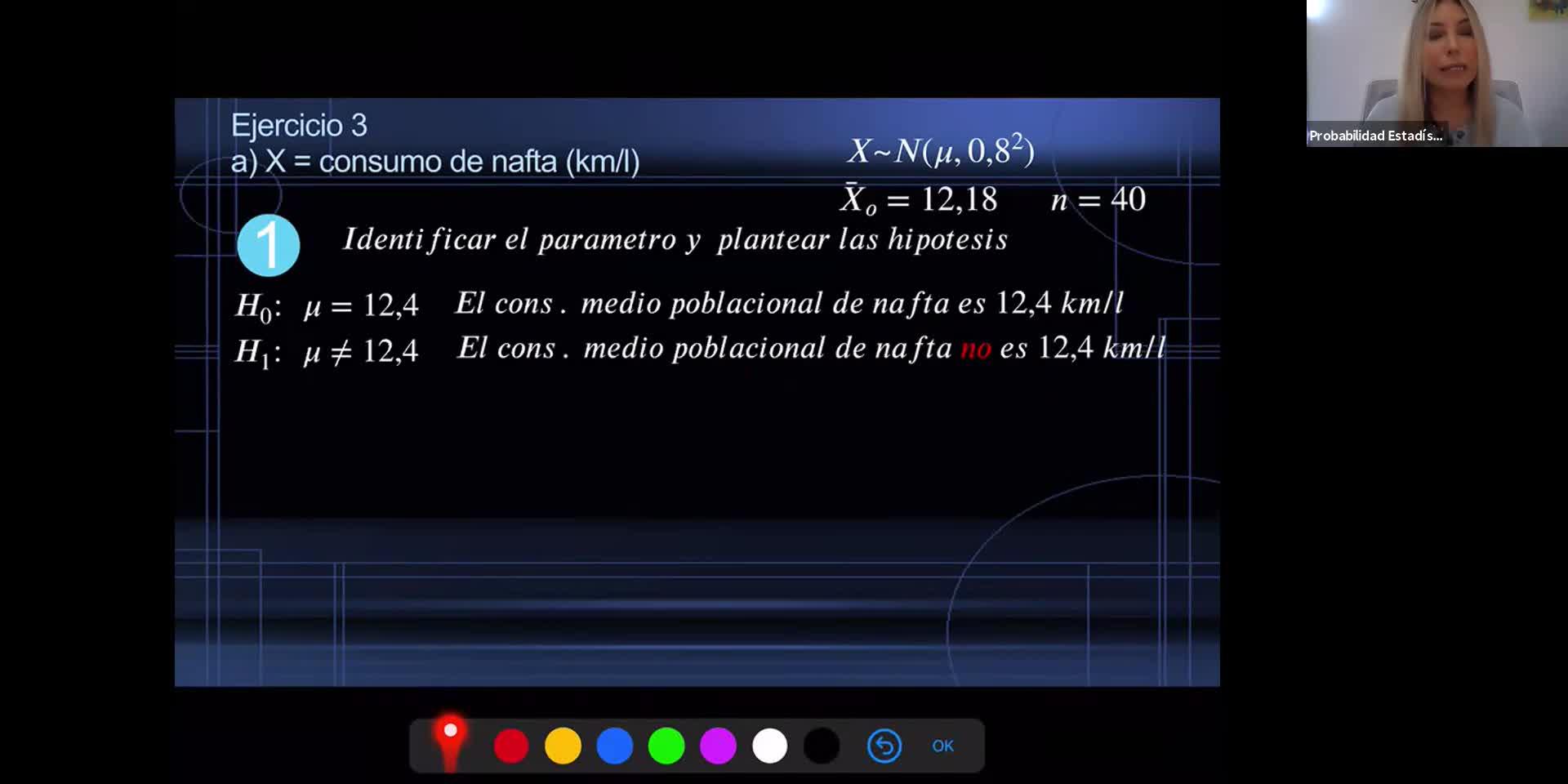 INGENIERÍA, Probabilidad y Estadística, TP 5 , Prueba de Hipotesis, Práctica, Prof. Haique