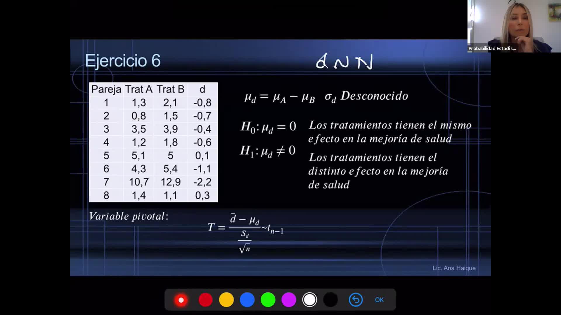 INGENIERÍA, Probabilidad y Estadística, TP 5 , Prueba de Hipotesis (Test no Paramétricos y repaso), Práctica, Prof. Haique