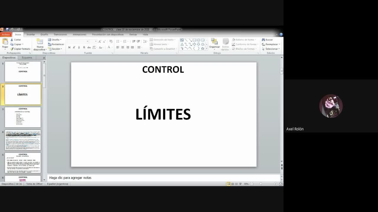 Clase Control 05-11-20