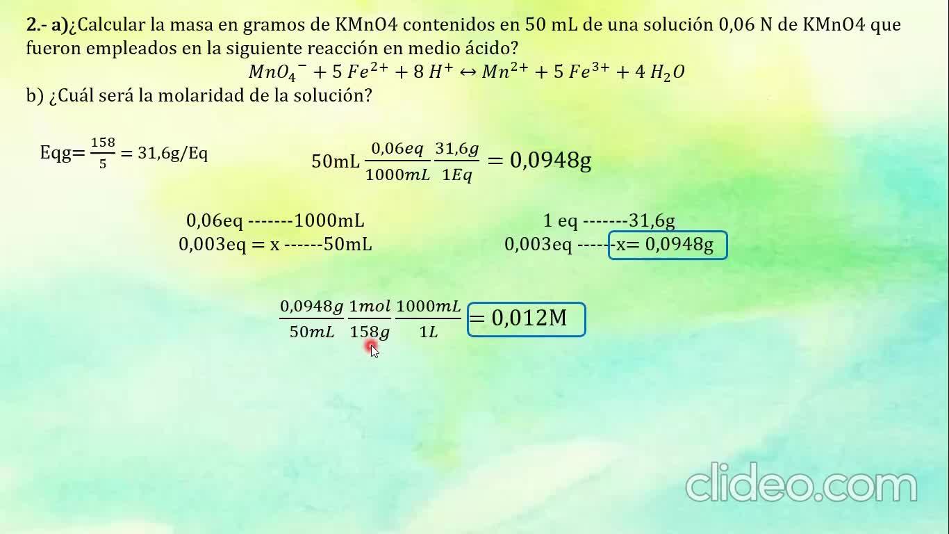 Ingeniería Agronómica- Química Analítica- Resolución Guía 10- Video N°36