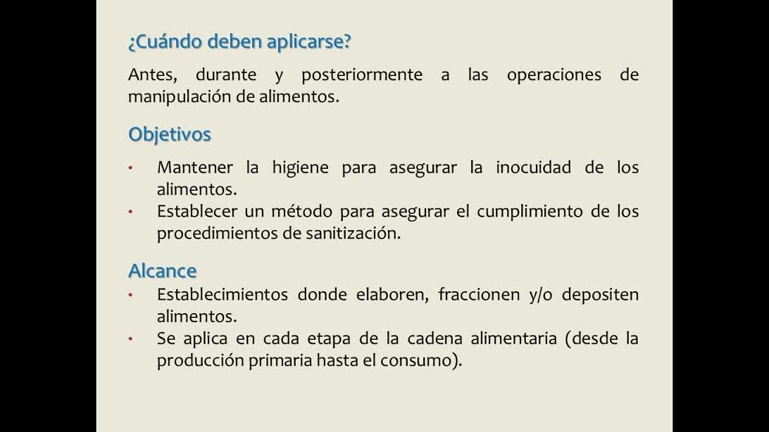 Procedimientos Operativos Estandarizados de Sanitización