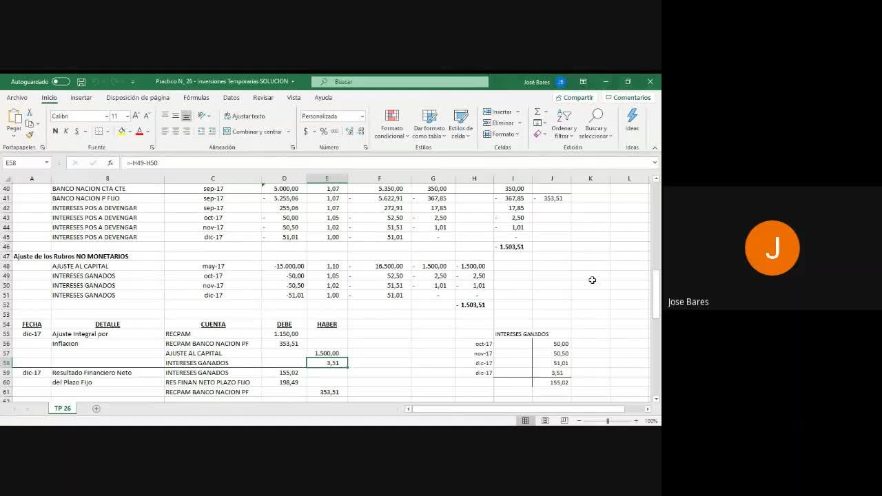 Trabajo Practico 26 InversionesTemporarias