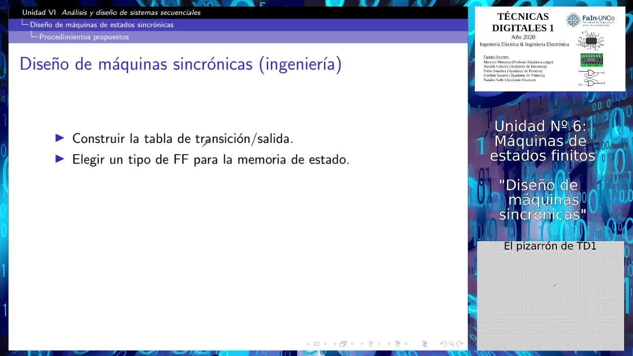 TD1 2020: Anlisis y Diseo de Sistemas Secuenciales (Introduccin al DISEO de mquinas sncronas)