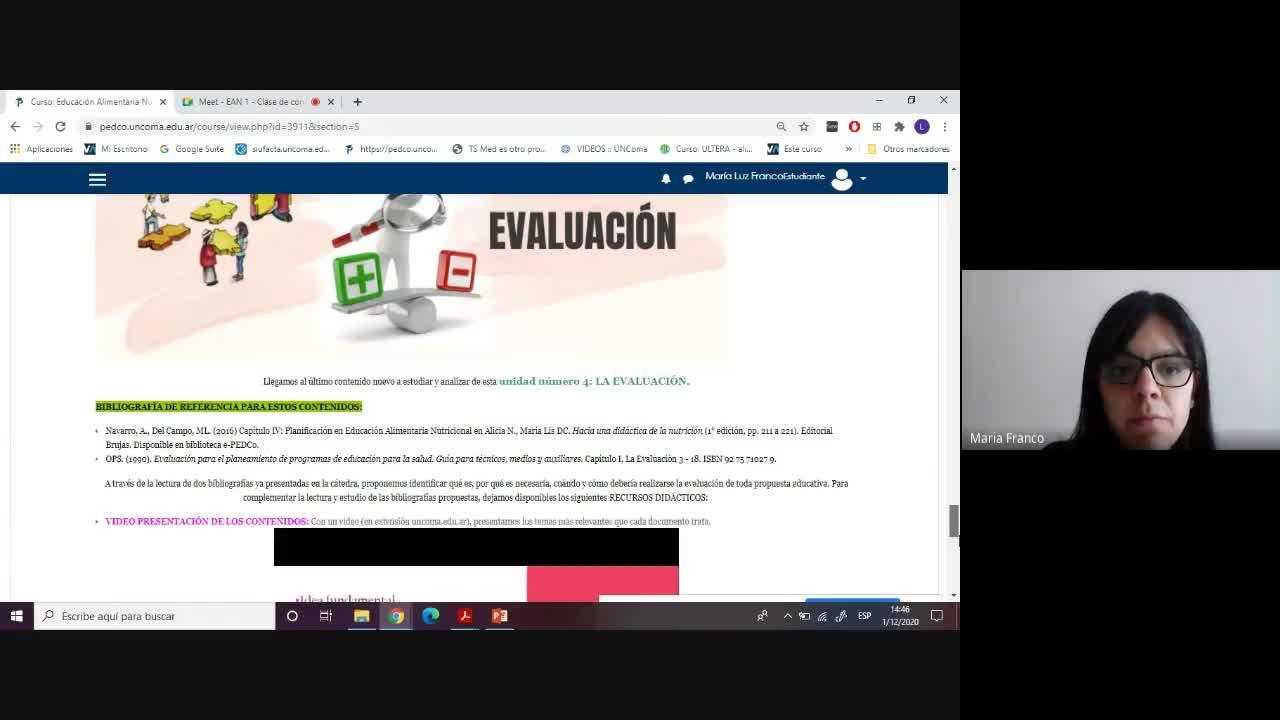 EAN 1 - Clase 01.12.2020