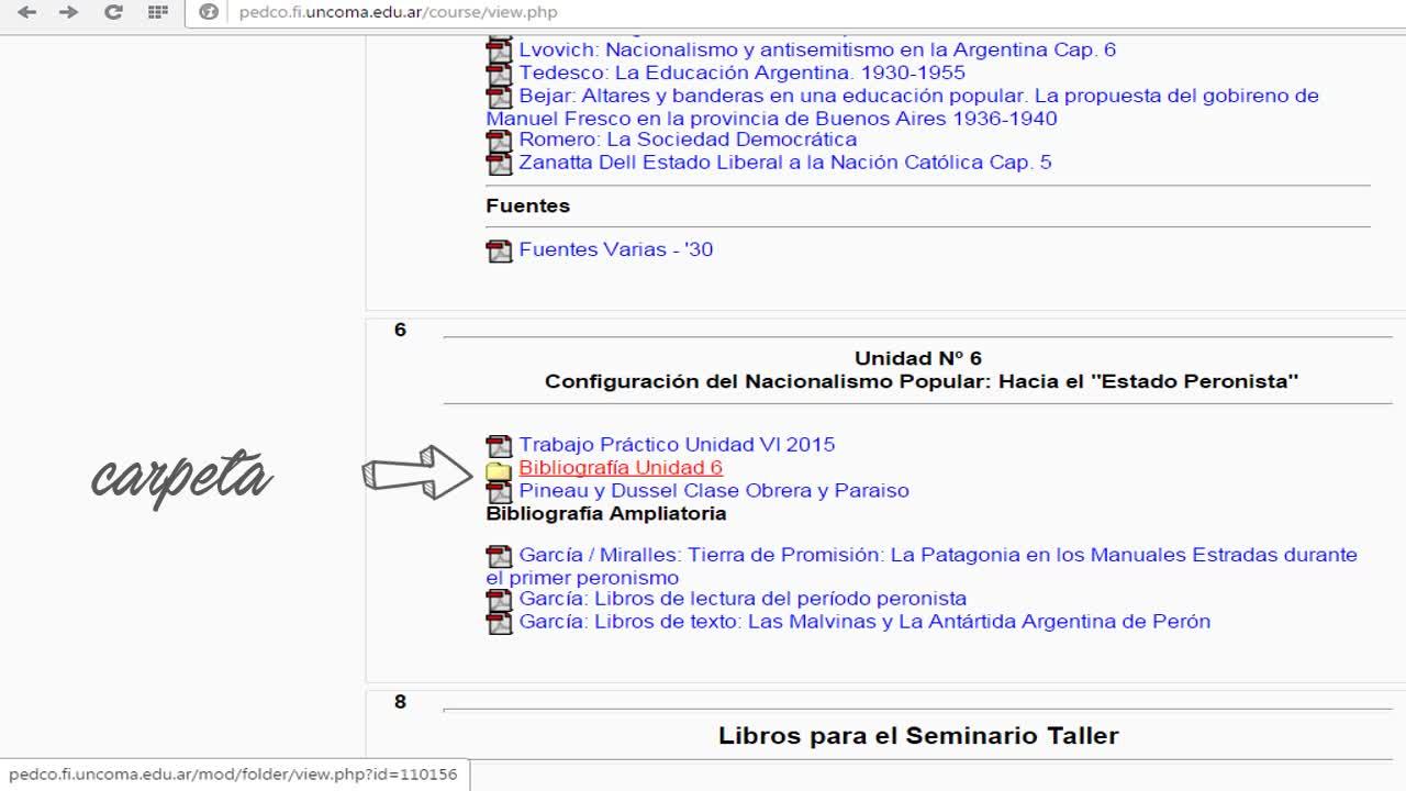 Recursos Bibliográficos en PEDCO