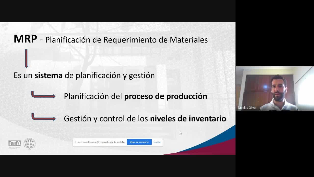 Diplomatura en Logística - Módulo 5 - Material Requirement Planning (MRP) Parte 2 de 3