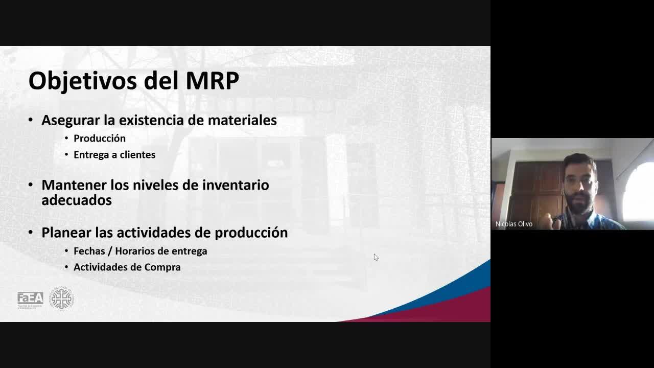 Diplomatura en Logística - Módulo 5 - Material Requirement Planning (MRP) - Clase 2