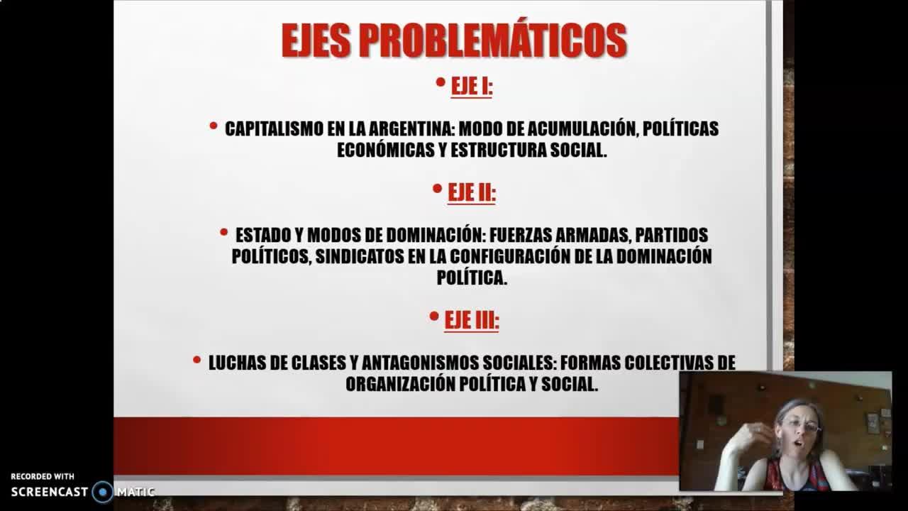 FADECS/ Lic. Sociología/ Análisis de la Sociedad Argentina -Prof. Giaretto- 1° Teórico-