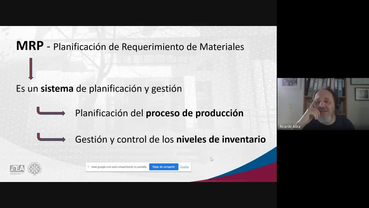 Diplomatura en Logística - Módulo 5 - Material Requirement Planning (MRP) - Clase 1 - Parte 3 - 05-03-21