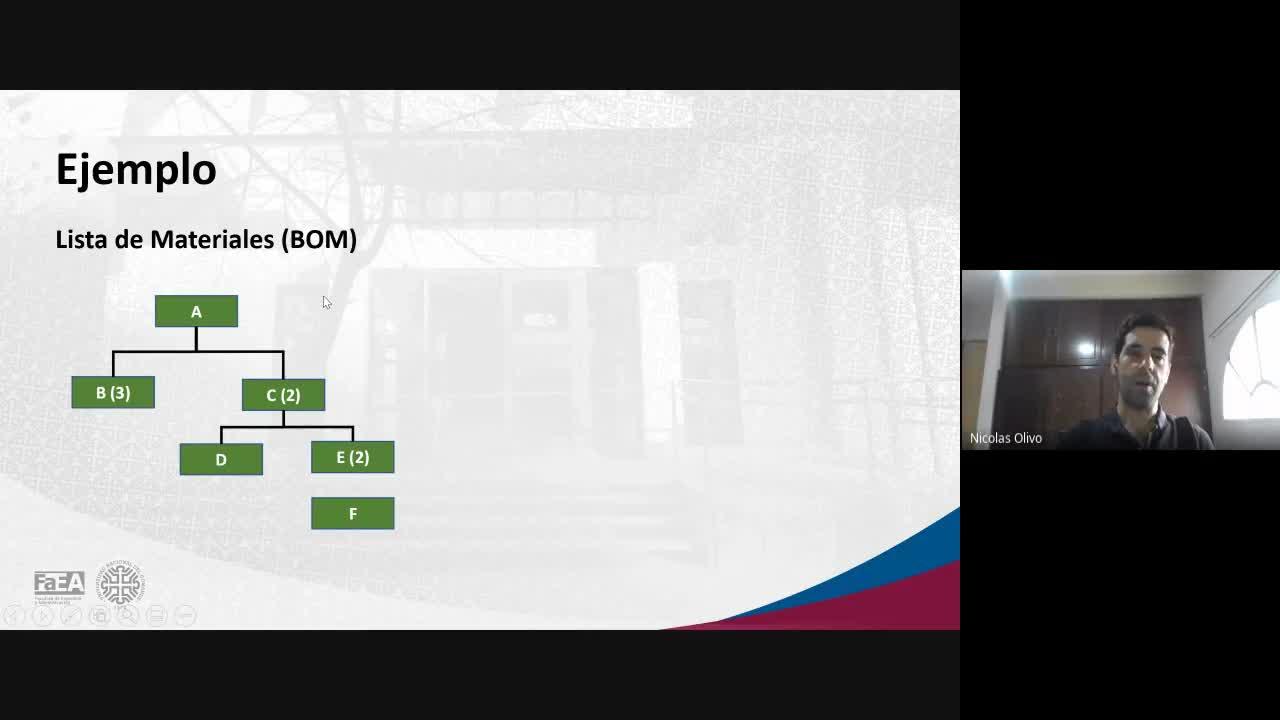 Diplomatura en Logística - Módulo 5 - Material Requirement Planning (MRP) - Clase 3 - 12-03-21