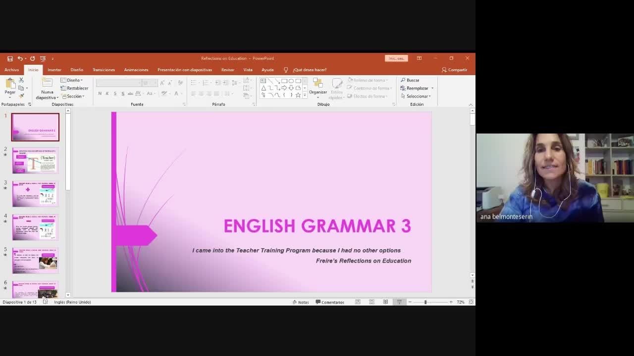 English Grammar III - March 26th