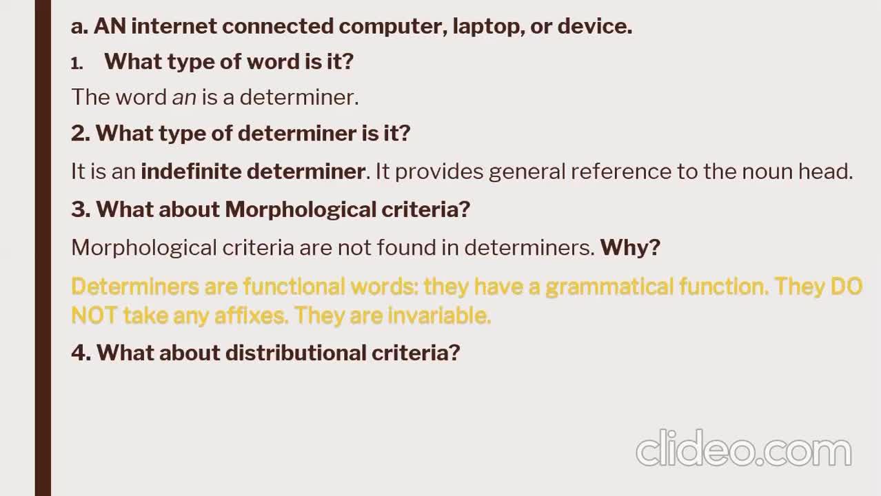 ILI Grammar - Determiners 2 - Discussion of exercises