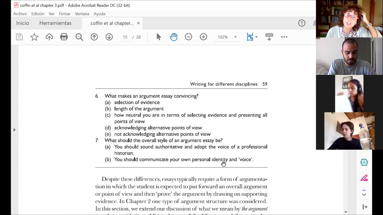 Coffin et al's discussion and paper analysis